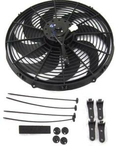 16 Inch Electric Radiator Fan Pusher Puller 120w High Power Motor 3000 Cfm