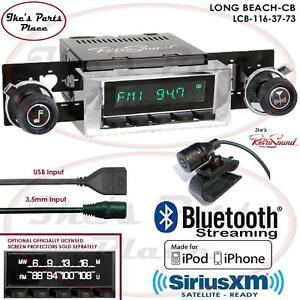 Retrosound Long Beach Cb Radio Bluetooth Usb 3 5mm Aux In 116 37 Gmc C Series