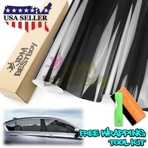 20 x50ft Vlt 35 Uncut Roll Window Tint Film Charcoal Black Car Glass Office