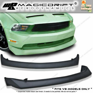 10 11 12 Ford Mustang Gt V8 B2 Style Urethane Front Bumper Chin Lip Spoiler