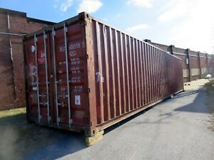 Shipping Sea Storage Container 40 Cargo String Lights Shelving Baltimore