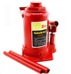 Low Profile Hydraulic Bottle Jack 32 Ton Automotive Shop Axle Jack Hoist Lift