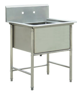 Commercial Stainless Steel Kitchen Utility Sink 30 Wide