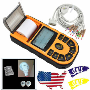 New Fda Single Channel Ecg Machine Ekg Ecg80a 12 Leads Electrocardiograph Usa