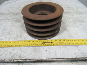 10095 Size D V belt Pulley Sheave 10 3 4 Diameter 4 Groove Qd J Series Bushing