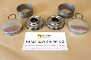Dana 44 Drive Flange Set Heavy Duty 19 Spline Chevy Dodge Ford Jeep Full 4x4