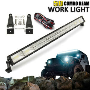 42 Inch 1400w 5d Curved Led Work Light Bar Combo Offroad Lamp Car Truck wiring
