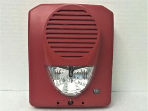 Potter sh 1224r A v Indoor Horn Strobe Multi Candela Red Fire Alarm Wall Mount