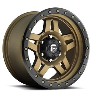 1set Off Road 18 Fuel Wheels D583 Anza Bronze Black Rims
