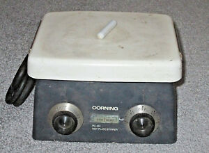 Working Corning Pc 351 Magnetic Stirrer Hotplate With 7 5 X 6 Ceramic Top