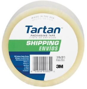 60 3m 3710 dc Tartan 1 88 X 54 6 Yd Clear Packing Shipping Tape Packaging