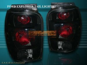 1998 2001 Ford Explorer Mercury Mountaineer Altezza Tail Lights Black Smoke