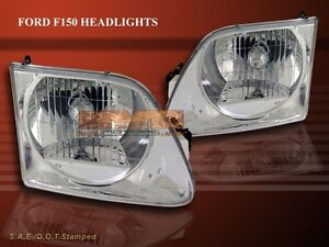 1997 2002 Ford Expedition 1997 2003 F150 Headlights Chrome