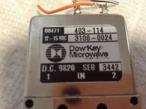 Dow Key Microwave 403 114 Switch