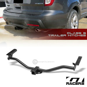 For 2011 2018 Explorer Class 3 Matte Black Trailer Hitch Receiver Bumper Tow 2