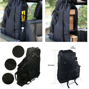 2x Roll Bar Cargo Storage Bag Pocket Tool Organizer For Jeep Wrangler Jk 4 door