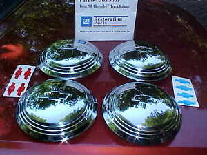 36 Chevy Truck Hub Caps For Corvette Rally Style Wheels stainless gm Rat 361