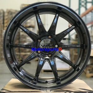 Xxr 527d 20 X 9 35 Chromium Black Deep Dish Lip Rims Wheels 5x114 3 5x4 5 Hyper