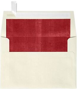 A4 Foil Lined Invitation Envelopes 4 1 4 X 6 1 4 W peel Press Natural W red