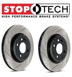 For Mustang Cobra Pair Set Of Rear Left Right Slot Brake Disc Rotors Stoptech