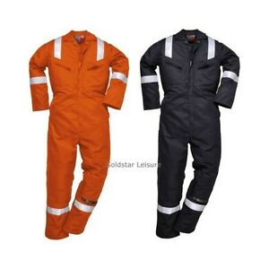 Portwest Nomex Coverall Boilersuit Flame Resist Reflective Safety Workwear Nx50