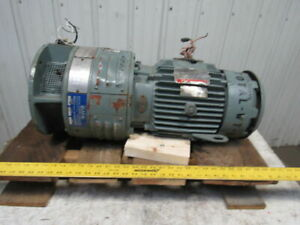 Reliance 1 5hp 1760rpm 3ph 230 460v With 90vdc Eddy Current Clutch Drive
