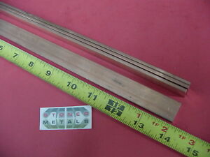 4 Pieces 1 8 X 3 4 C110 Copper Bar 14 Long Solid Flat Mill Bus Bar Stock H02