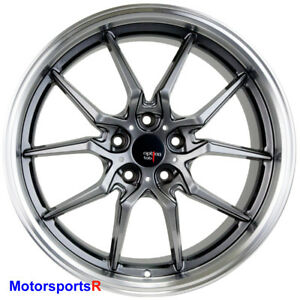 Option Lab S718 19 X 9 5 35 Grey Rims Wheels 5x114 3 Mitsubishi Evolution Evo X