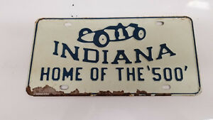 Original 50s 60s Nos Indy Indiana 500 Vintage License Plate Corvette Camaro Tag