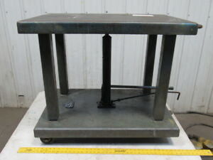 Wesco Ltl 20 2436 2000 Lb Lift Table Die Cart 24 x36 top 31 47 ht On Casters