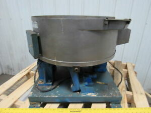 Automation Engineering 24 X 24 Vibratory Bowl Parts Feeder Base W 2 Drives