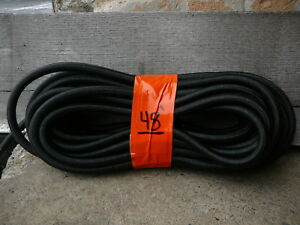 Big 1 2 X 48 Black Nylon Coated Rubber Rope Shock Cord Marine Grade Bungee