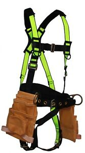 Safewaze Fs175 Extreme Construction Harness Fixed Back Pad Tool Pouches M