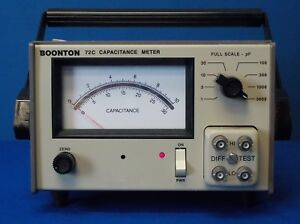 Boonton 72c Analog Capacitance Meter 100 Khz 1 3000 Pf Full Scale Tested