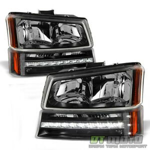 2003 2006 Chevy Silverado 1500 Avalanche Headlights led Bumper Signal Lights