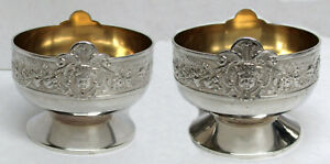 Gorham 1876 Sterling Silver Putti Condiment Salt Dishes 1385