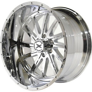 22x12 Chrome Xtreme Force Xf3 Wheels 6x135 44 Lifted Fits Lincoln Navigator
