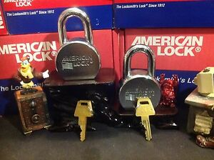 2 American 700 Series Extra Heavy duty Padlocks Ka Or Kd With r2 Keyway