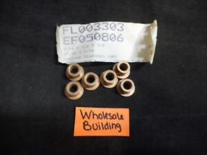 Bunting Bearings Corp Bronze Flanged Bushing Ef050806 Id 5 16 od 1 2 Lot Of 6