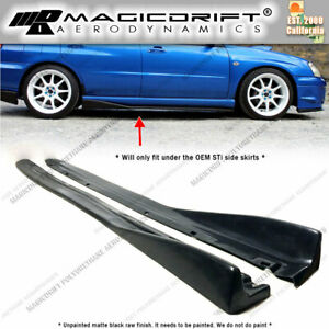 Jdm Cs Style Add on Splitter Fits 04 05 06 07 Subaru Impreza W Sti Side Skirts