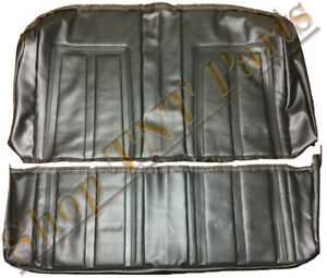 1966 Nova Seat Covers Rear Back Coupe Upholstery Skins Black Vinyl Replacements