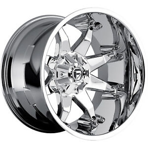 22x14 Chrome Fuel Octane Wheels 8x170 76 Lifted Ford F 250 F350 Excursion