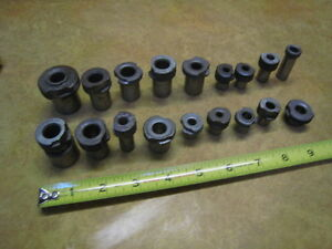 18 Machinist Tools Lathe Or Mill Machine Drill Sized Sleeve Collet Tools See