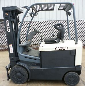 Crown Model Fc4020 50 2003 5000lbs Capacity Great 4 Wheel Electric Forklift