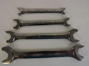 4 Piece Set New Armstrong Open End Wrench Set High Polish Brand New S A E