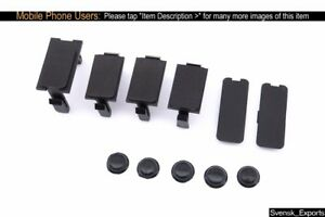 Porsche 944 86 91 Screw Cover Switch Blank Set Door Panel Dashboard Trim Covers