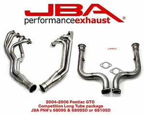 Jba Long Tube Headers Catless Mid pipes Pontiac Gto 2005 2006 6809s 6810sd