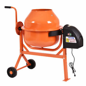 2 1 5 Cu Ft Portable Electric Concrete Cement Mixer Stucco Mortar Barrow Machine