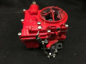 Vintage Speed Rochester 2g Secondary Carb In Baron Red Tri Power Hot Rod