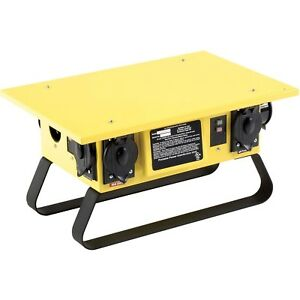 Portable Power Distributor Box 120 240v 50a 1 Phase Generator Compatible